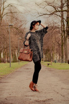 Urban Outfitters dress - Topshop boots - Topshop hat - Mulberry bag
