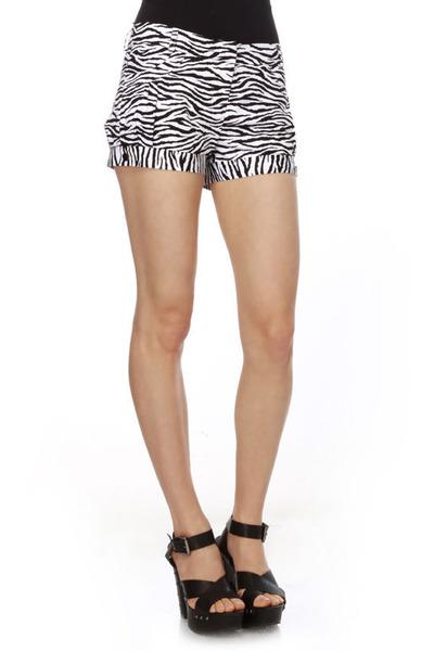 zebra print LuLus shorts