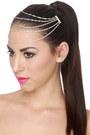 Silver Hair Clip LuLus Accessories