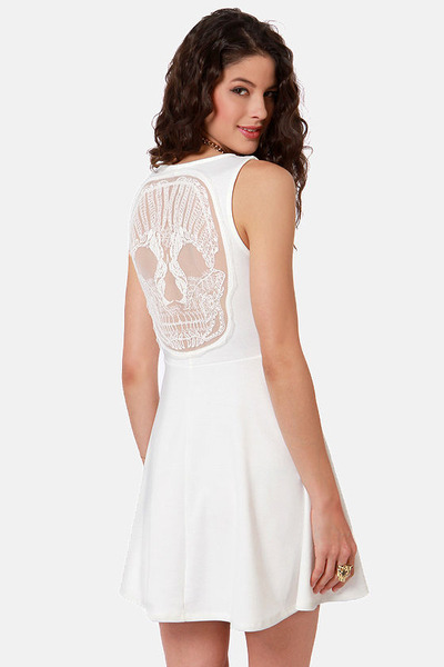 ivory LuLus dress