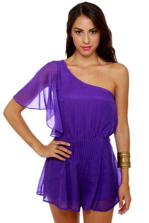 purple LuLus romper