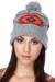 heather gray knit obey hat