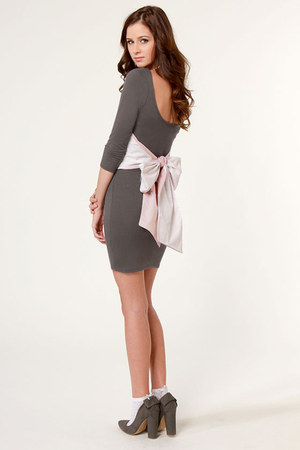 heather gray LuLus dress