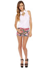 Floral Cuttoffs LuLus Shorts