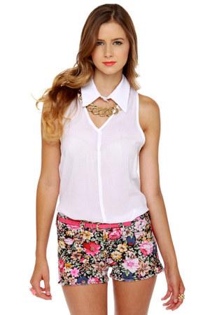 floral cuttoffs LuLus shorts