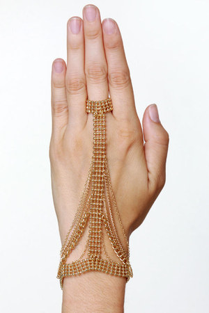 gold LuLus bracelet