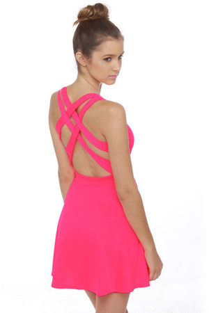 hot pink LuLus dress