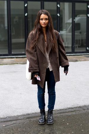 big coat - Dr Martens boots