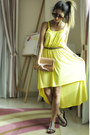 Yellow-forever-21-dress-coral-topshop-purse