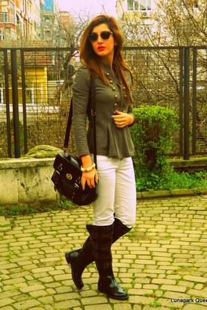 Accessorize bracelet - Bambi boots - ivory Zara jeans - dark brown De Vib bag