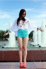Off-white-h-m-shirt-topshop-shorts-carrot-orange-river-island-wedges