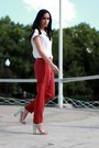 Massimo-dutti-shirt-zara-heels-h-m-pants