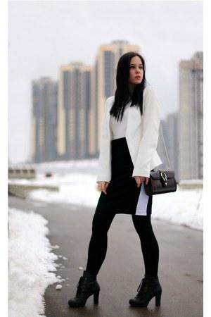 Topshop jacket - Zara sweater - Massimo Dutti bag - Topshop skirt
