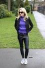 Black-cat-eye-asos-sunglasses-black-faux-leather-river-island-pants