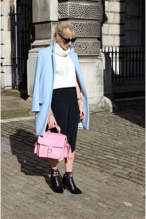 sky blue boyfriend Glamorous jacket - black ankle boots Aldo boots