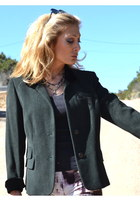 dark green worldly things italy blazer