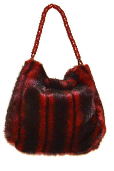 ruby red faux fur Lanzetti Lexiapel purse