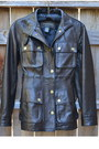 Black Leather Safari Banana Republic Jackets