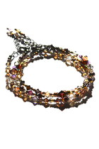 Dark Brown Beaded Crystal Budget Luxuries Bracelets