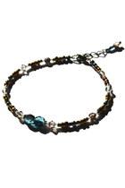 dark brown beaded crystal Budget Luxuries bracelet