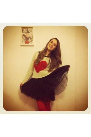 Primark dress - Accessorize tights - La Santa jumper