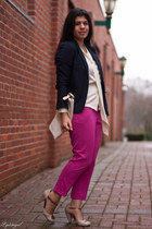cream Gap bag - navy Gap blazer - cream seychelles heels