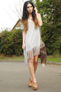 Heather-gray-romwe-dress-tan-h-m-bag-gold-romwe-necklace-tan-office-wedges