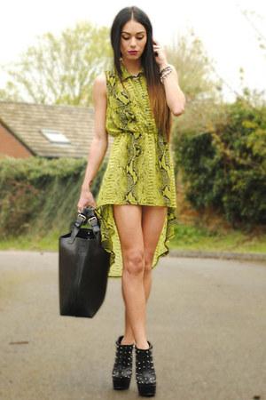 Love dress - SoYouShoes heels - romwe belt - JEWEL RHI necklace