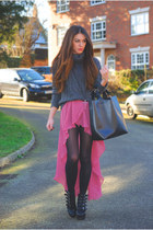 Love dress - romwe bag - Primark jumper - Miss Selfridge necklace