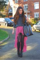 Love dress - romwe bag - Primark jumper - Miss Selfridge necklace