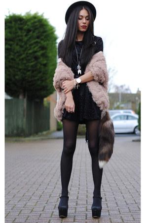peach Coosy cardigan - black inlovewithfashion dress