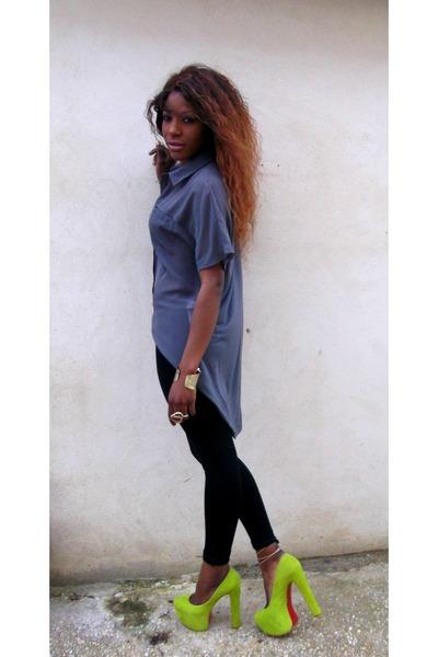 H & M jeans - Zara blouse - Chri Stian Louboutin heels
