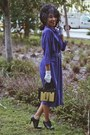 Blue-thrifted-dress-black-oxfords-unknown-heels-white-unknown-gloves