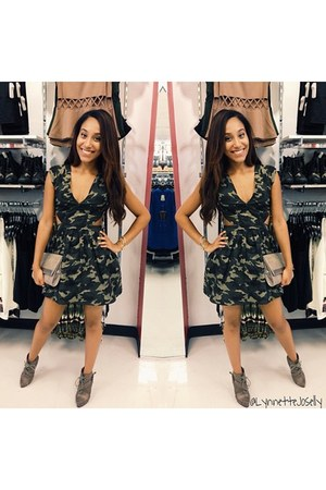 olive green army MadRag Stores dress