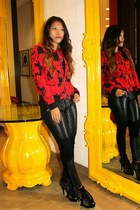 ruby red Parker jacket - black DL 1961 Jeans jeans - black Rory Beca top
