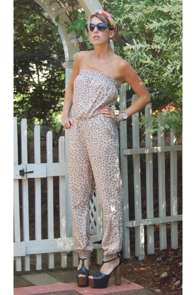 80s Purple sunglasses - Jessica Simpson heels - H&M jumper