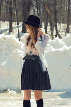 H&M hat - Urban Outfitters shirt - Anthropologie belt - vintage skirt