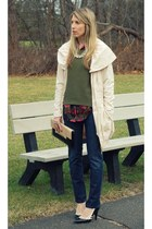 DL1961 Denim jeans - ApartStyle coat - Old Navy sweater - H&M blouse