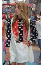 VJ Style shirt - vintage scarf - H&M shorts - Dolce Vita sandals