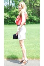 Kendall K Style dress - vintage bag - franco sarto sandals