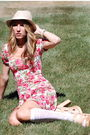 Pink-urban-outfitters-dress-american-eagle-hat-knee-highs-urban-outfitters-a