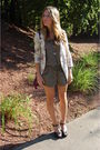 Green-romper-f21-top-beige-free-people-blazer-black-nine-west-shoes-purpl