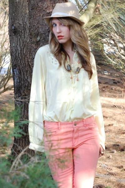 ae hat - H&M pants - vintage blouse