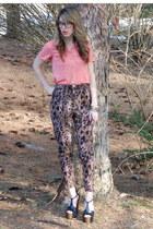 vintage shirt - H&M pants - Jessica Simpson sandals