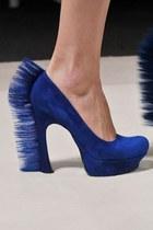 blue  suede  YSL heels