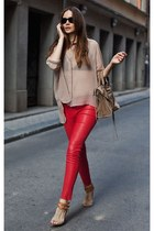 ruby red new look jeans
