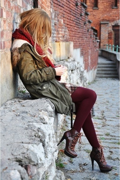 magenta Zara boots