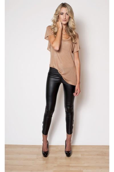 tan Topshop blouse