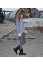H&M boots - Zara shirt
