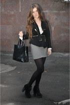 asos boots - Zara blazer - DKNY bag